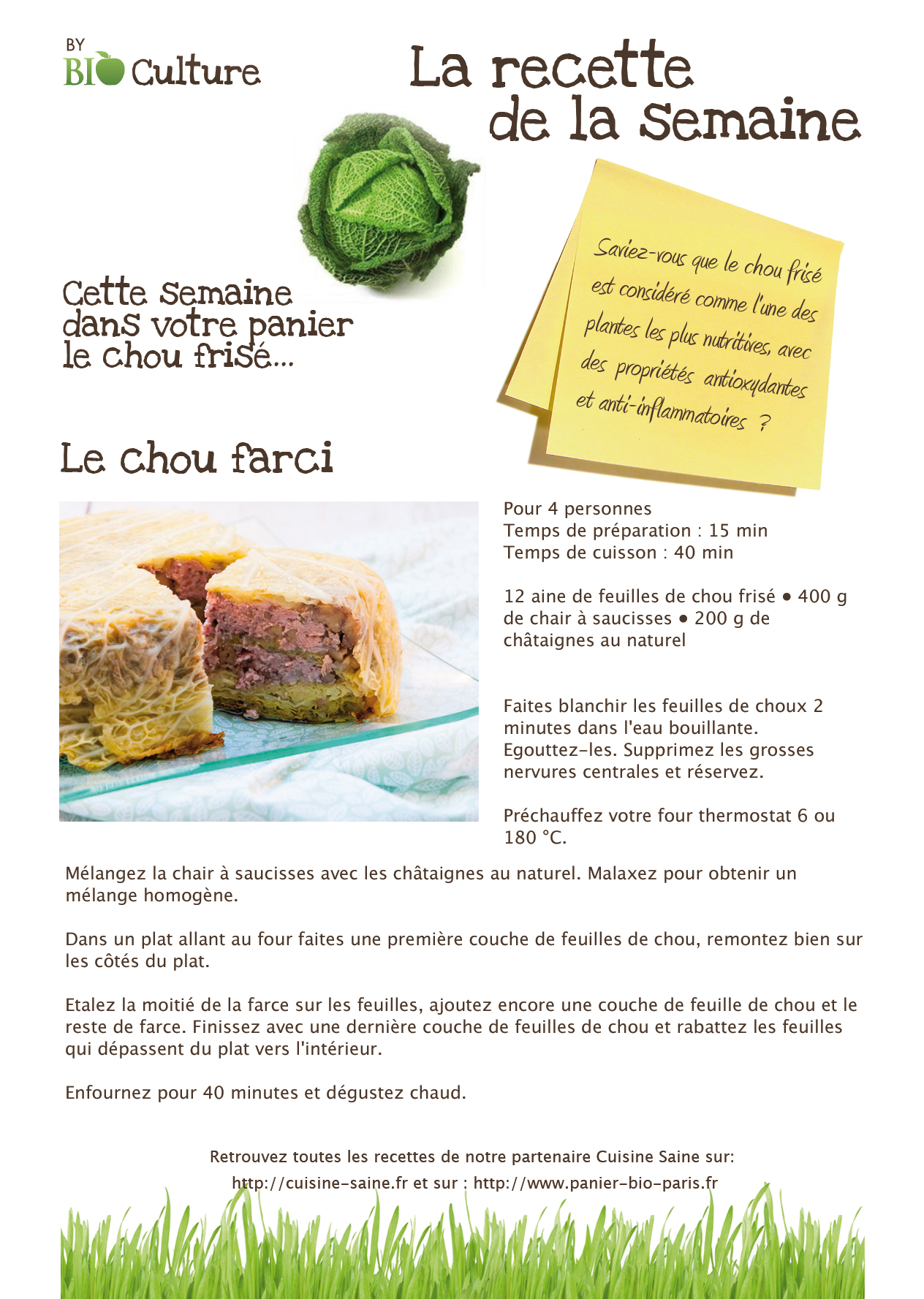 Cr ation de recettes pour bio culture karen chevallier for Creation cuisine