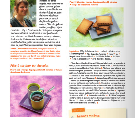 Chronique culinaire dans bio info
