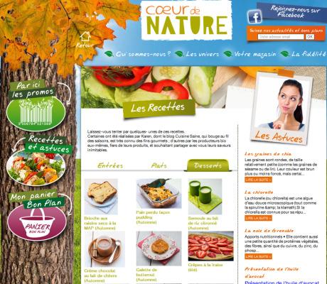 Auteur et photographe culinaire – Réalisation de recettes de saison pour Coeur de Nature