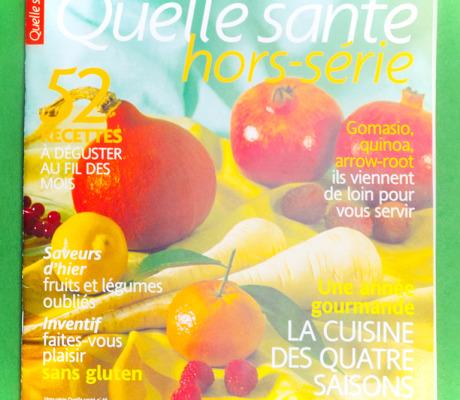 Auteur et photographe culinaire – Hors série cuisine bio de saison pour Quelle santé.