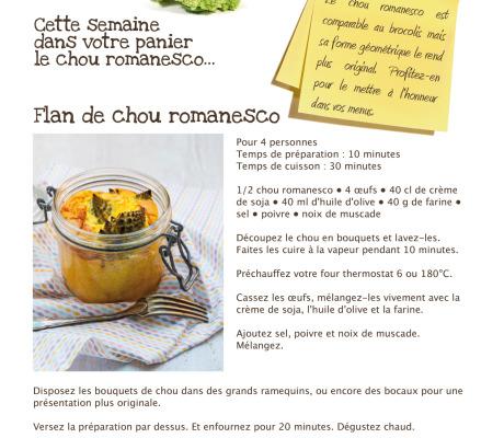 Création de recettes pour Bio culture