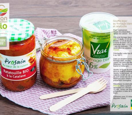 Réalisation d'une recette et photo à partir de produits bio du groupement de marques « mon quotidien bio »