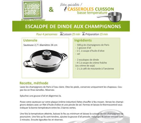 Auteur et photographe culinaire – Création de recettes pour styl'inox